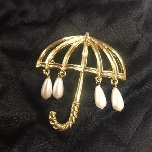 Marvella VINTAGE Umbrella Pearl PIN